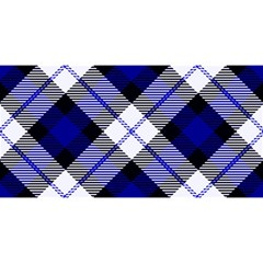 Smart Plaid Blue YOU ARE INVITED 3D Greeting Card (8x4)