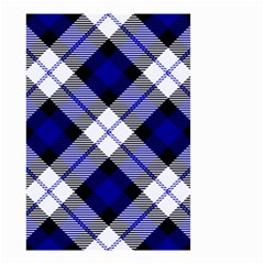 Smart Plaid Blue Small Garden Flag (two Sides)