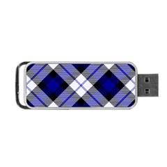 Smart Plaid Blue Portable Usb Flash (two Sides)