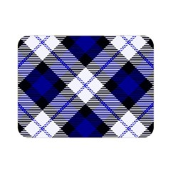 Smart Plaid Blue Double Sided Flano Blanket (Mini)