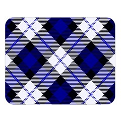 Smart Plaid Blue Double Sided Flano Blanket (large)