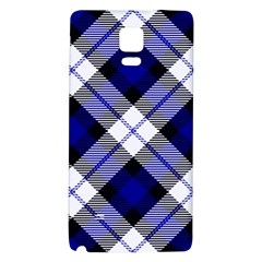 Smart Plaid Blue Galaxy Note 4 Back Case