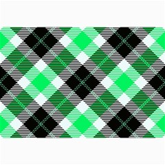 Smart Plaid Green Collage 12  X 18