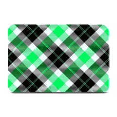 Smart Plaid Green Plate Mats