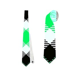 Smart Plaid Green Neckties (one Side)