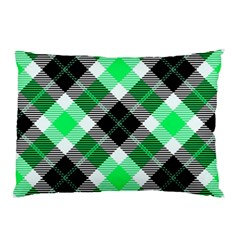 Smart Plaid Green Pillow Cases