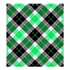 Smart Plaid Green Shower Curtain 66  X 72  (large)