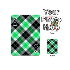 Smart Plaid Green Playing Cards 54 (mini)