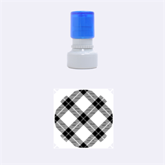 Smart Plaid Green Rubber Round Stamps (Small)
