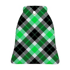 Smart Plaid Green Bell Ornament (2 Sides)