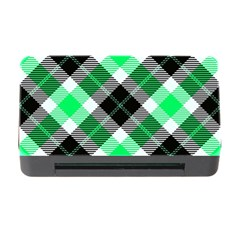 Smart Plaid Green Memory Card Reader with CF
