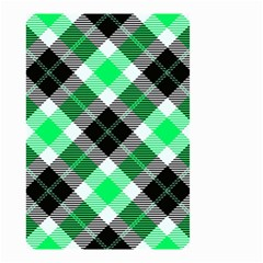 Smart Plaid Green Small Garden Flag (Two Sides)