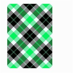 Smart Plaid Green Large Garden Flag (Two Sides)
