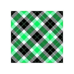 Smart Plaid Green Acrylic Tangram Puzzle (4  X 4 )