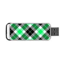 Smart Plaid Green Portable USB Flash (Two Sides)