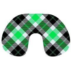 Smart Plaid Green Travel Neck Pillows