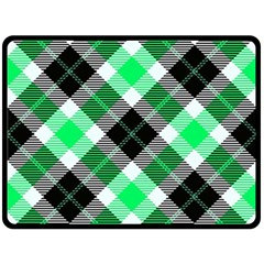 Smart Plaid Green Double Sided Fleece Blanket (large)