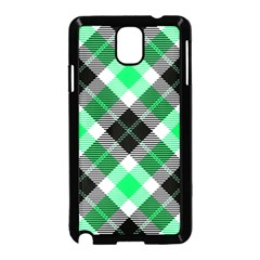 Smart Plaid Green Samsung Galaxy Note 3 Neo Hardshell Case (black)