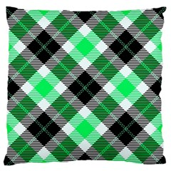 Smart Plaid Green Standard Flano Cushion Cases (One Side)
