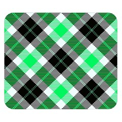 Smart Plaid Green Double Sided Flano Blanket (Small)
