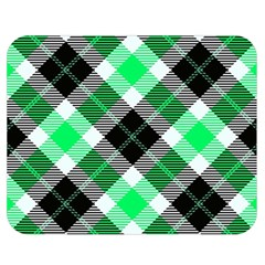 Smart Plaid Green Double Sided Flano Blanket (Medium)