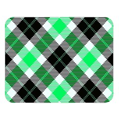Smart Plaid Green Double Sided Flano Blanket (large)