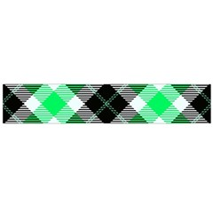 Smart Plaid Green Flano Scarf (Large)
