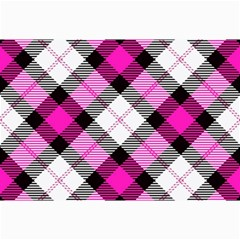 Smart Plaid Hot Pink Collage 12  X 18