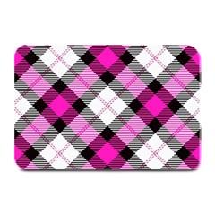 Smart Plaid Hot Pink Plate Mats