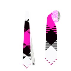 Smart Plaid Hot Pink Neckties (one Side)