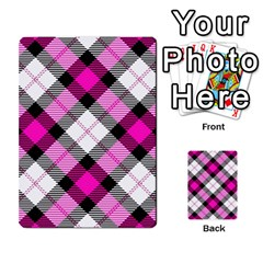Smart Plaid Hot Pink Multi Purpose Cards (rectangle)