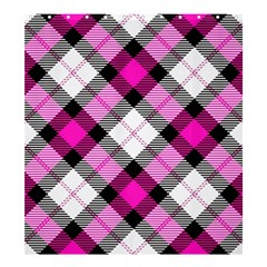 Smart Plaid Hot Pink Shower Curtain 66  x 72  (Large)