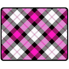 Smart Plaid Hot Pink Fleece Blanket (medium)