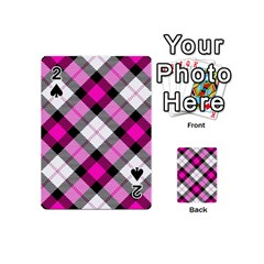 Smart Plaid Hot Pink Playing Cards 54 (Mini)