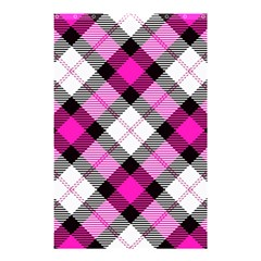 Smart Plaid Hot Pink Shower Curtain 48  X 72  (small)
