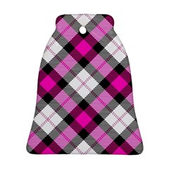Smart Plaid Hot Pink Ornament (Bell)