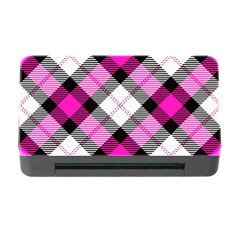Smart Plaid Hot Pink Memory Card Reader With Cf