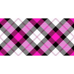 Smart Plaid Hot Pink You Are Invited 3d Greeting Card (8x4)