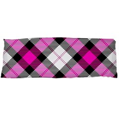 Smart Plaid Hot Pink Body Pillow Cases (Dakimakura)