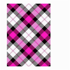 Smart Plaid Hot Pink Small Garden Flag (Two Sides)
