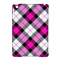 Smart Plaid Hot Pink Apple Ipad Mini Hardshell Case (compatible With Smart Cover)