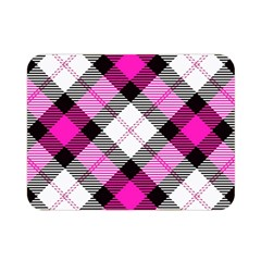Smart Plaid Hot Pink Double Sided Flano Blanket (mini)