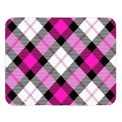 Smart Plaid Hot Pink Double Sided Flano Blanket (Large)