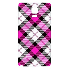 Smart Plaid Hot Pink Galaxy Note 4 Back Case