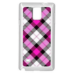 Smart Plaid Hot Pink Samsung Galaxy Note 4 Case (White)