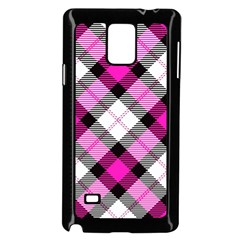 Smart Plaid Hot Pink Samsung Galaxy Note 4 Case (black)