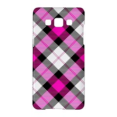 Smart Plaid Hot Pink Samsung Galaxy A5 Hardshell Case