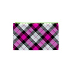 Smart Plaid Hot Pink Cosmetic Bag (XS)