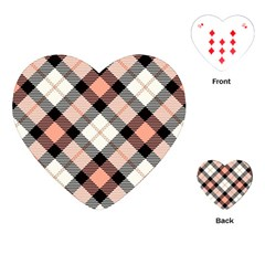 Smart Plaid Peach Playing Cards (Heart)