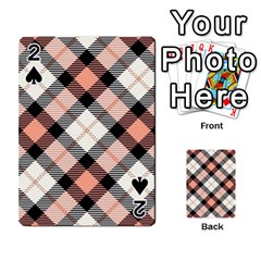 Smart Plaid Peach Playing Cards 54 Designs
